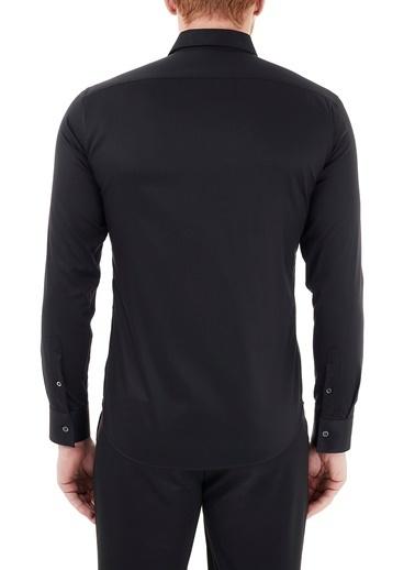 Emporio Armani  Baskılı Düz Yaka Pamuklu Gömlek Erkek Gömlek A1Cc2P A140C 998 Siyah